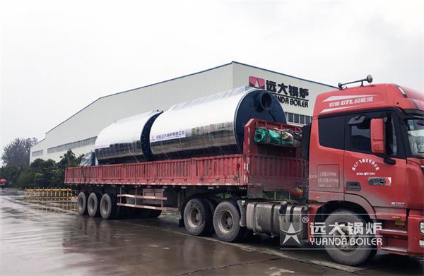 2吨4吨超低氮燃气热水尊龙官网使用访问zd207发往郑州港区
