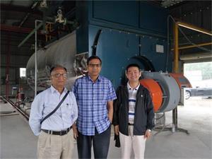 河南建材厂万邦合力新材料10吨燃气一体式冷凝尊龙官网使用访问zd207