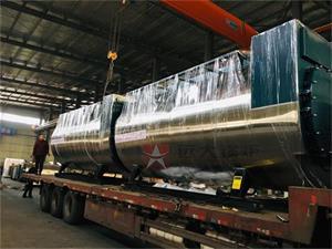 2台4吨一体冷凝式燃气尊龙客服发往四川成都